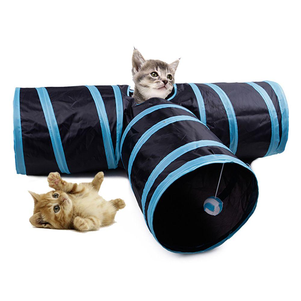 2/3 Löcher Faltbare Haustier Katze Tunnel Indoor Outdoor Haustier Katze Training Spielzeug für Katze Kaninchen Tier Spielen Tunnel Rohr T-joint
