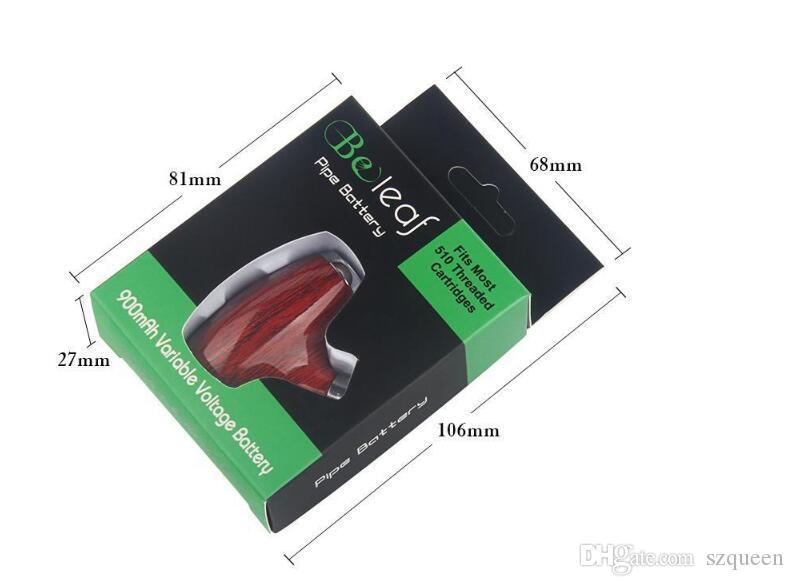 Os mais recentes Beleaf Pré-aqueça o Variable Voltage Vapor E Cig mecânico Mod bateria de 900 mAh Pré-aqueça Vape Pen E Cachimbo Micro USB vaporizador
