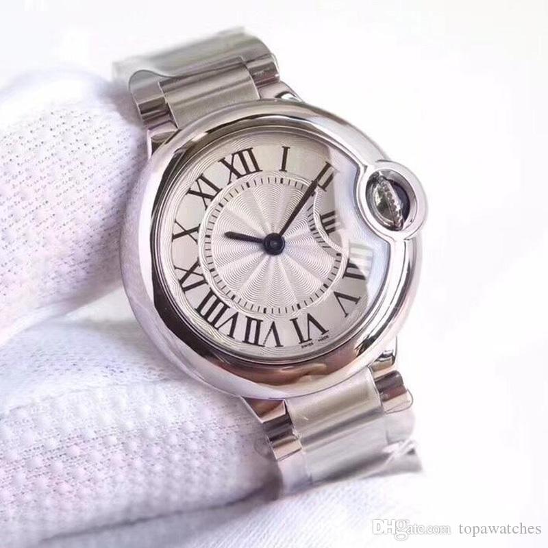 2019 Yeni Moda Lüks Saatı Mens Womens En Kaliteli 316L Paslanmaz Çelik Bant Kuvars Tasarımcı Saatler Klasik Kutusu Hediye Ile Klasik Reloj