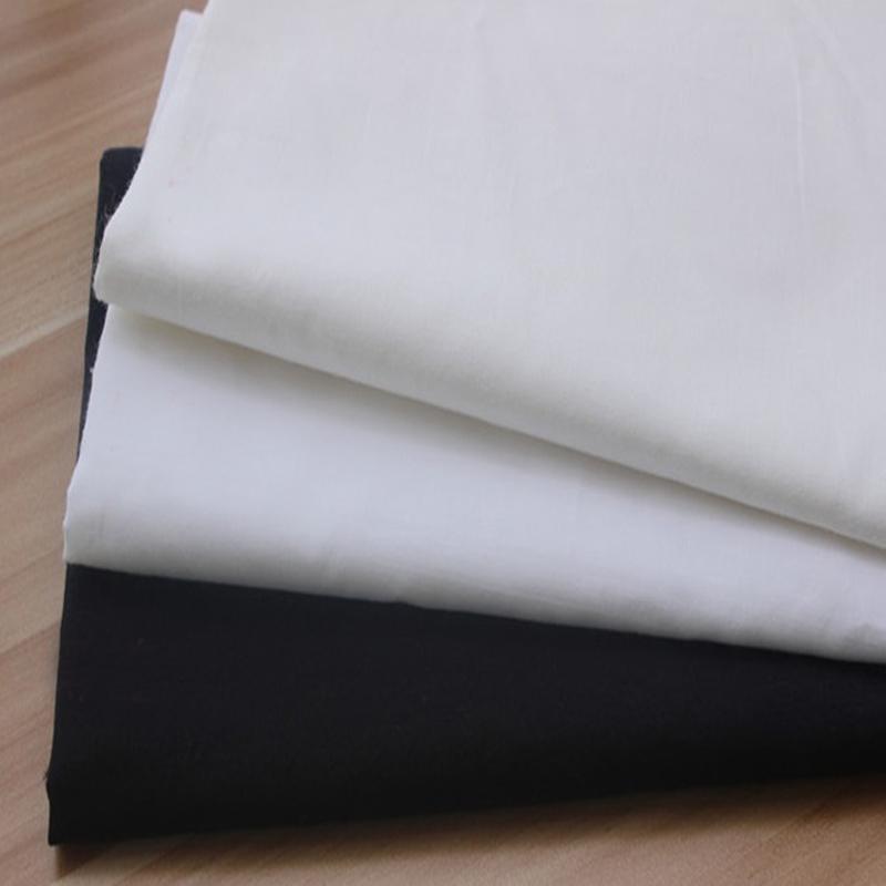 50x160 سنتيمتر أبيض أبيض نقي نسيج قطني أبيض 100% لخياطة الملابس
