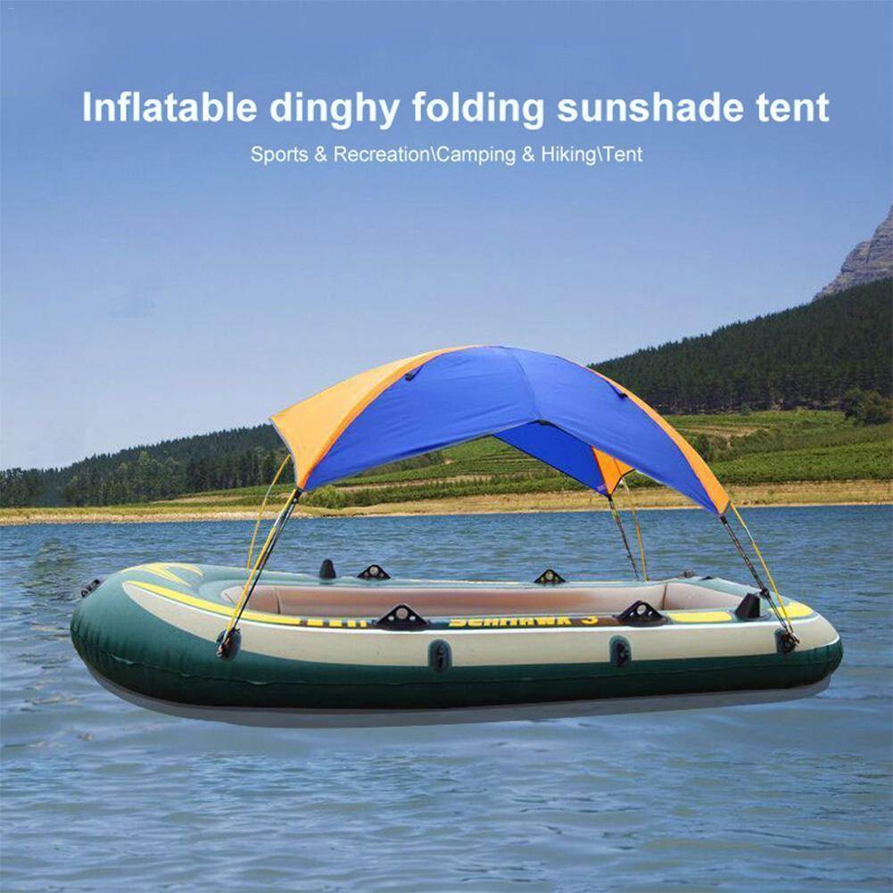Carpa 4 persona bote inflable impermeable Refugio Barco Kayak Pesca Accesorios Parasol lluvia Canopy Kayak Velero Toldo Top
