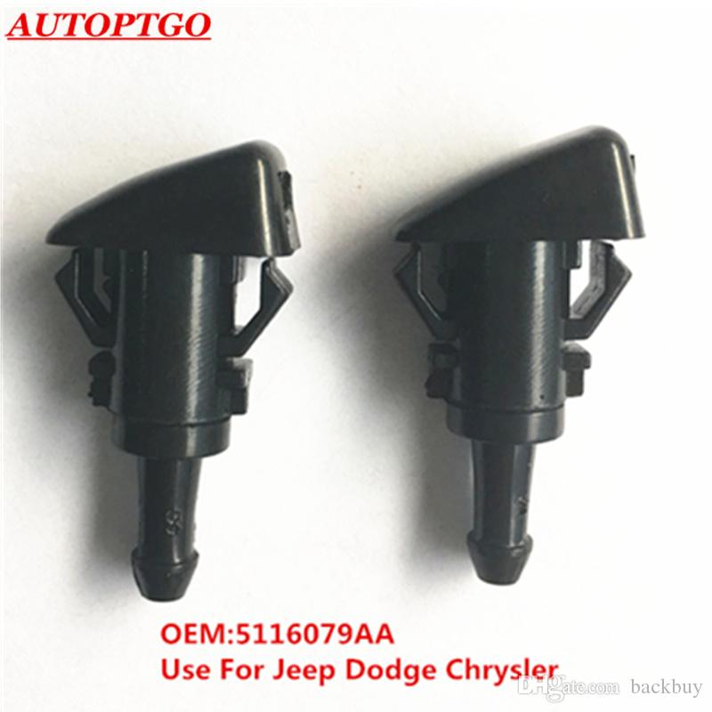 OE# 5116079AA Car Windshield Washer Wiper Spray Nozzle For Dodge Ram 1500 2500 3500 Charger Magunm