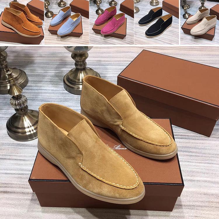 chaussures homme Loro cuir véritable moyen baskets femme cylindre chaussures de loisirs homme qui a réussi nubuck avec la boîte et le sac à poussière