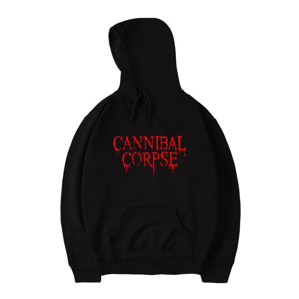 Brutal Death Metal Cannibal Corpse Hoodie homens suéter Banda Nome Logo Imprimir moda algodão CANNIBAL CORPSE Hoodie