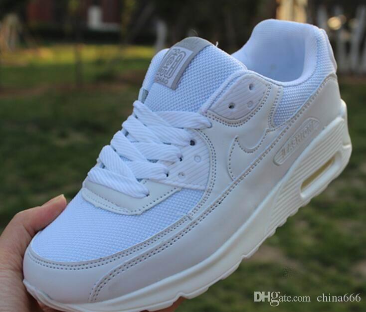 ÜCRETSIZ YENI Klasik 90 Koşu Ayakkabıları Erkek Kadın Açık Run Ayakkabı Siyah beyaz Spor Şok Koşu Yürüyüş Yürüyüş Spor Atletik Sneakers ayakkabı