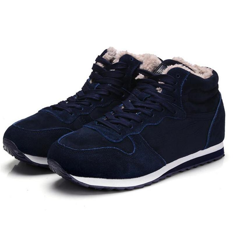 LAIDILANGTU inverno novos homens de sapatos altos sapatos de algodão quentes de neve botas dos homens além de veludo Sapatilhas quentes ocasional pares botas 36--48