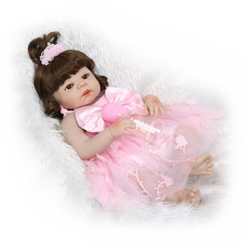 Bebe Reborn gender gril dolls soft real gentle touch full vinyl silicone body bebe toys for kids on Christmas