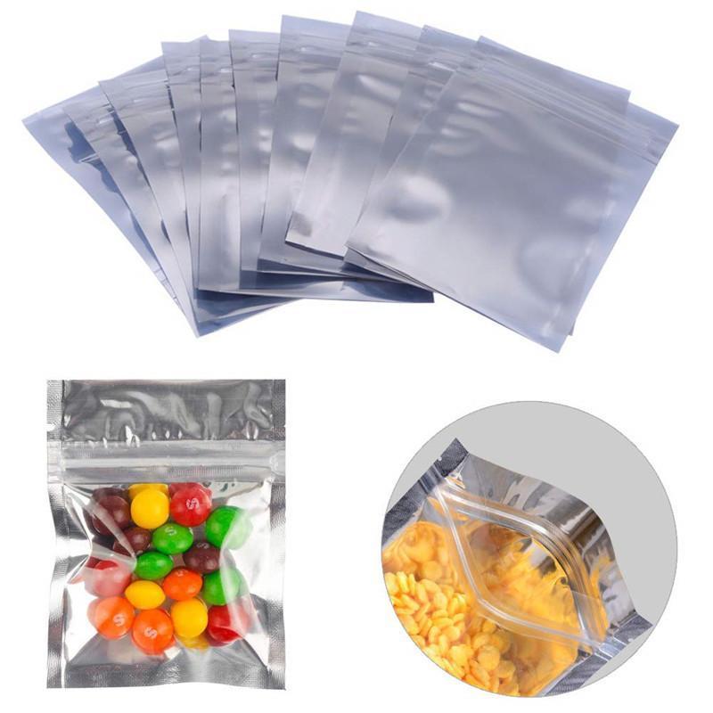 100pcs التي الكثير الأغلاق البريدي مايلر حقيبة تخزين المواد الغذائية الألومنيوم احباط أكياس رائحة إثبات الحقائب 6 * 10CM * 13CM 7 8 * 11cm وأكياس التخزين
