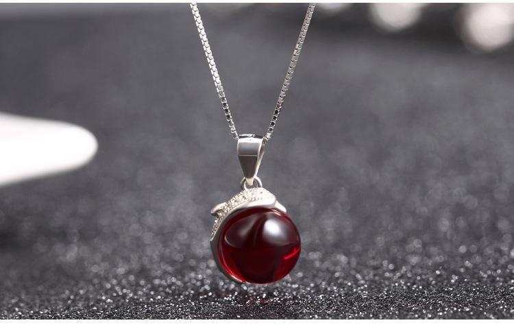 Frauentagsgeschenke Top-Qualität S925 Sterling Silber Kristall Anhänger für Halsketten Kristall jeweled Modeschmuck OEM-Fabrik DDS0