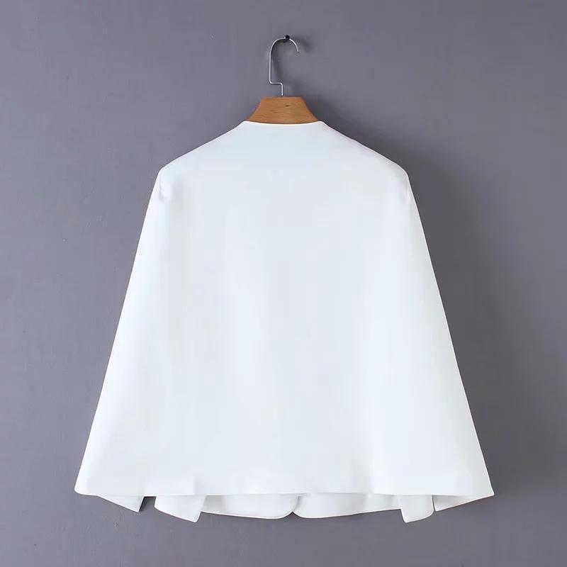 les femmes de conception split drapent costume manteau casual dame noire et de la mode de veste blanche streetwear perdre hauts vêtements de plein air C613 CX200725