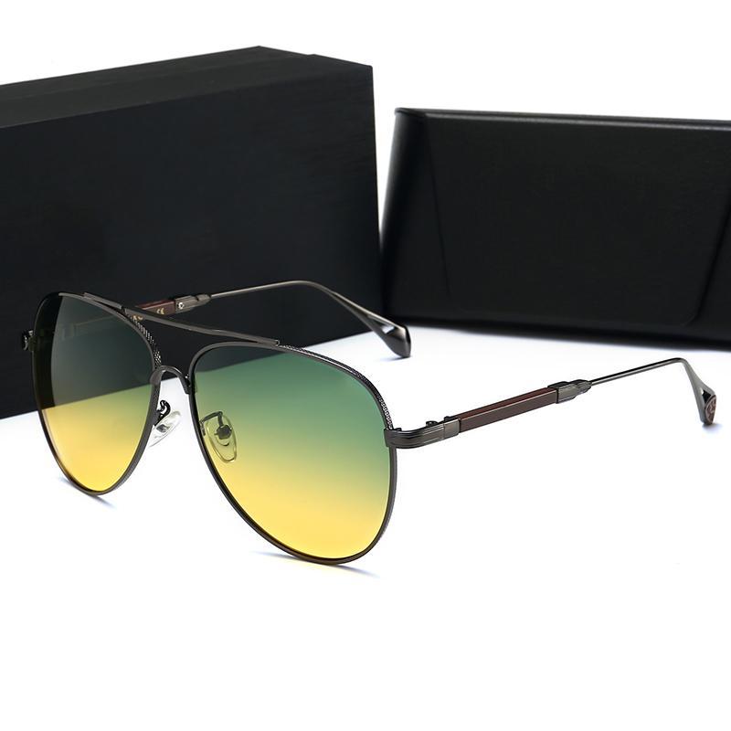케이스 여성 패션 라운드 여름 한 스타일 블랙 골드 프레임 안경 최고 품질 UV 차단 렌즈 갖추고 명품 선글라스 여성