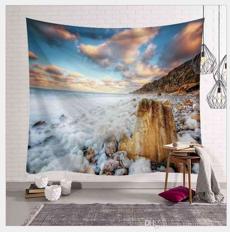 Tapestry Wall Hanging Polyester Scenery Pattern Blanket Tapestry Home Decor AU