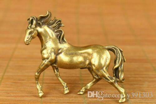 Rare Japan old bronze hand carving horse statue noble decoration