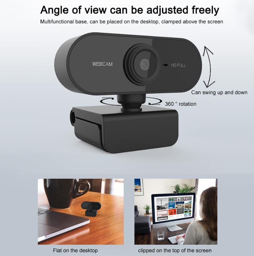 Веб-камера 1920 * 1080 Динамическое разрешение HD полный веб-камера со встроенным в звукопоглощения Микрофон Auto Color Correction Веб-камера 1080P веб-трансляции