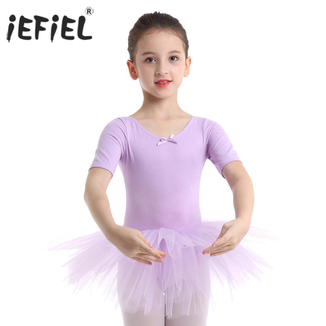 iEFiEL في سن المراهقة القطن الأطفال الباليه توتو اللباس طفل الرقص ازياء الجمباز يوتار للبنات الاطفال الرقص الدرجة راقصة الباليه