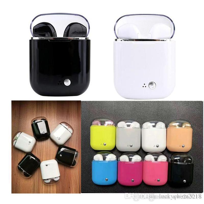 I7 I7S TWS Kabellose Bluetooth-Kopfhörer Ohrhörer mit Ladegerät Box Twins Mini Bluetooth-Ohrhörer für iPhone mit Box