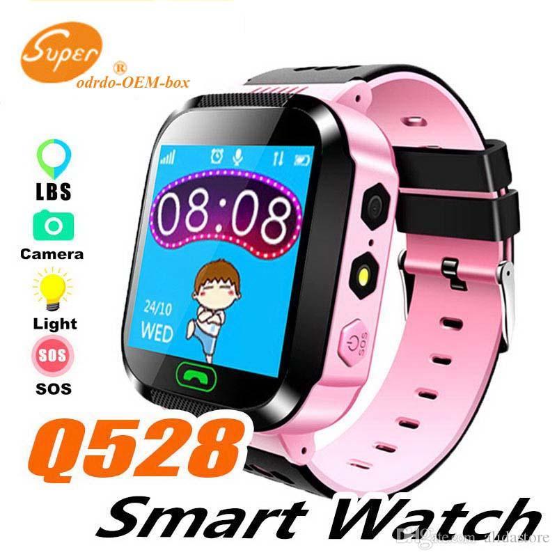 Q528 Enfants Montre Intelligente Pour Enfants SmartWatch Écran Tactile SOS Urgence GPRS Alarme Caméra Anti-perdu Horloge Montre Bébé Horloge