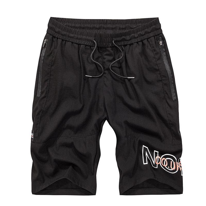 2020 nuevos hombres del estilo casual tendencia cortos hombres ocasionales de los deportes de los Cien Torres apuesto joven de gran tamaño pantalones de la playa