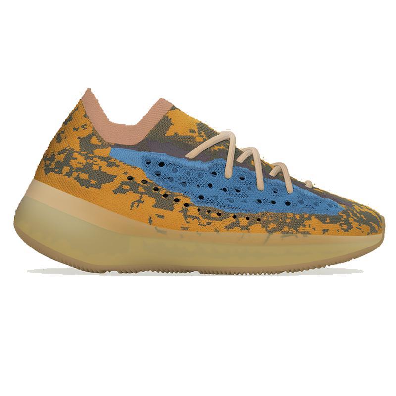 2020 Top qualité Kanye West 380 Bleu Avoine Alien Mist 3M réfléchissant Courir chaussures Triple Clay Beluga Noir Blanc Hommes Femmes Chaussures avec la boîte