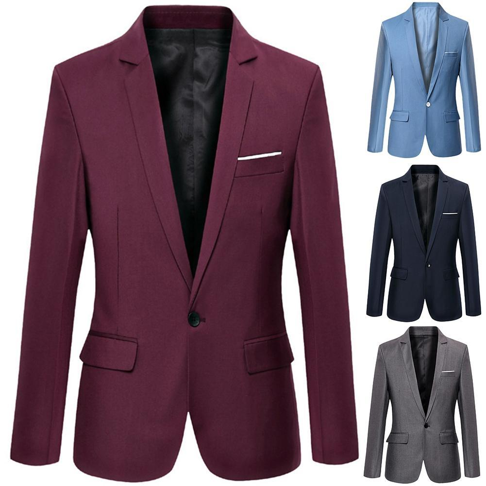 Fashion Men Spring One Button Lapel Leopard Stripe Slim Fit Casual Blazer Jacket