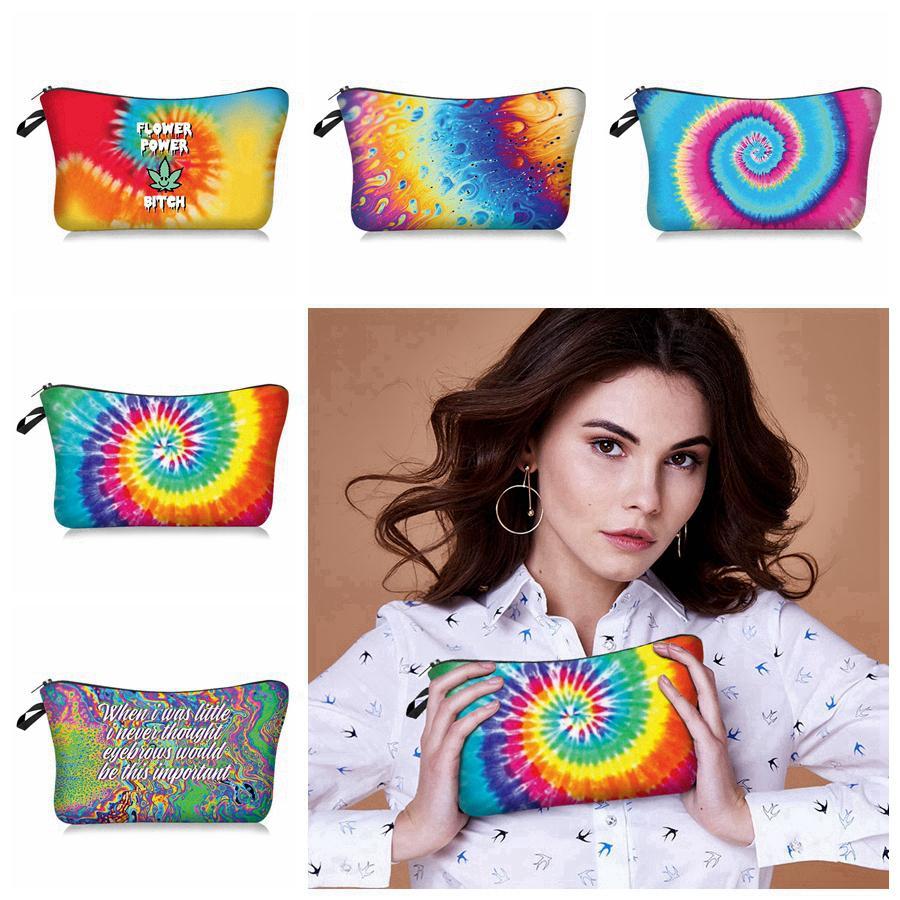 Borse Borsa Cosmetic Travel Organizer Viaggio Trucco di viaggio RRA3392 Storage Portable Tie-Dye Stampato Borse Borse Lavaggio Lavaggio TFVGP