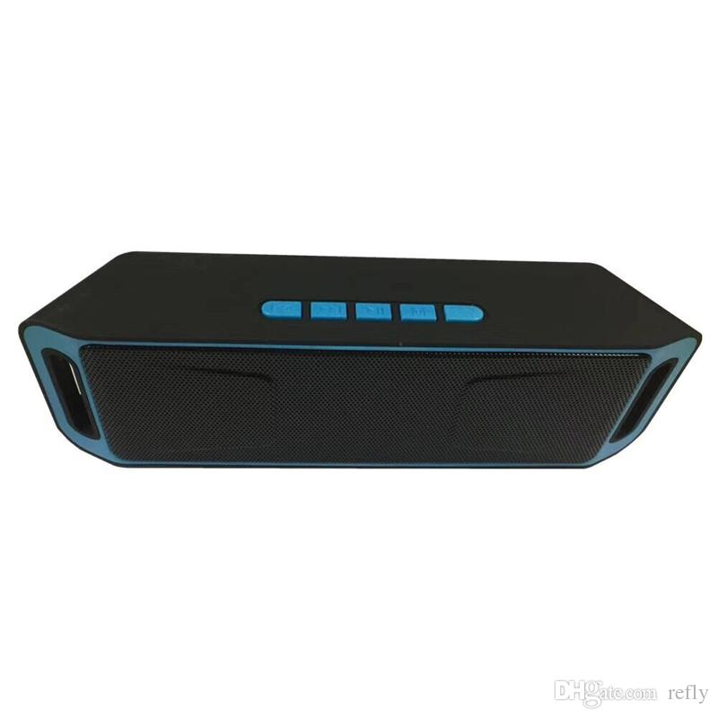 SC208 سماعات بلوتوث لاسلكية ميني بريس سماعات موسيقى محمولة مضخم صوت مضخم صوت للهواتف الذكية والكمبيوتر اللوحي من Iphone