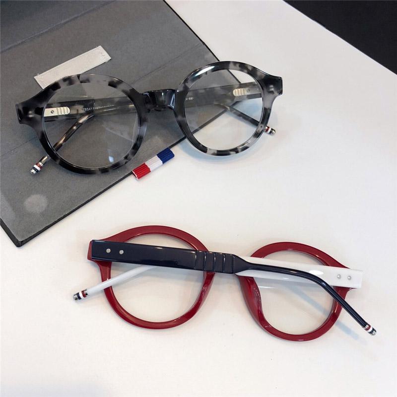 All'ingrosso-Occhiali da sole Designer Personality Trend Occhiali con montatura tonda Retro street culture Eyewear Clear lens Protezione UV400