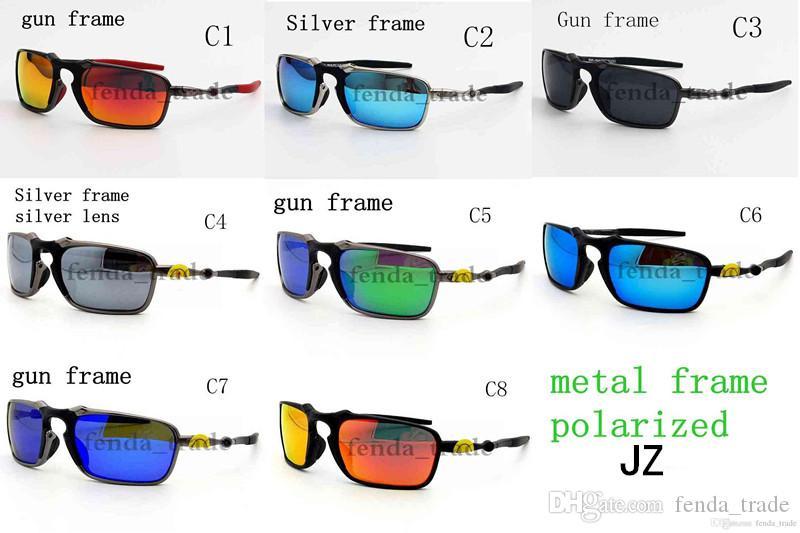 2018 جديد 8 ألوان أعلى نظارات معدنية الرياضة يستقطب ماركة سيئة مصمم رجل جودة عالية نظارات الشمس ركوب uv400 للرجال النساء