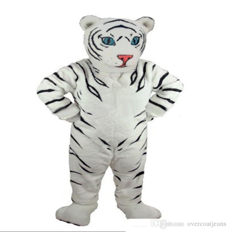 2019Halloween Deluxe Panthera tigris Mascot Costume Top Quality Cartoon White Tiger Anime theme character Christmas Carnival Party Costumes