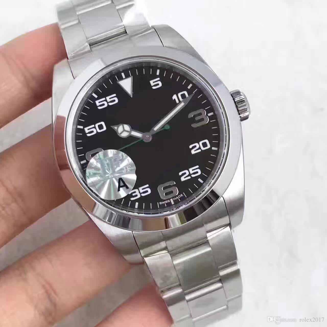 Men's Luxury Products Quality Classic 40mm 116900 Air-King Stainless Swiss 3131 Movement Automatic Mens Watches