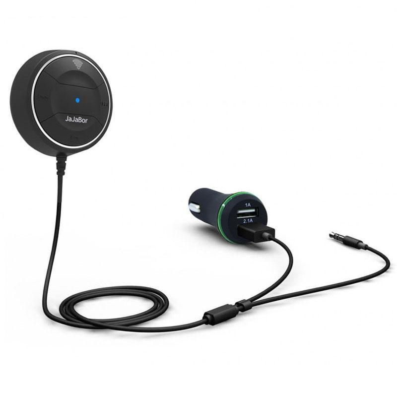 JRBC01 Bluetooth 4.0-Freisprechanlagen mit NFC-Funktion + 3,5 mm AUX-Empfänger Musik Aux Freisprechfunktion 2.1A USB Car Charger
