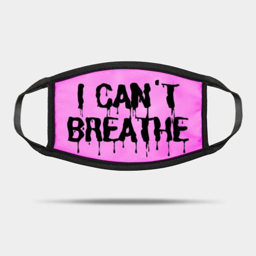 Los adultos que no puedo respirar Máscaras Máscaras Máscaras lavables de verano al aire libre practicar deporte diseñador de moda Máscara ZZA2259 70Pcs