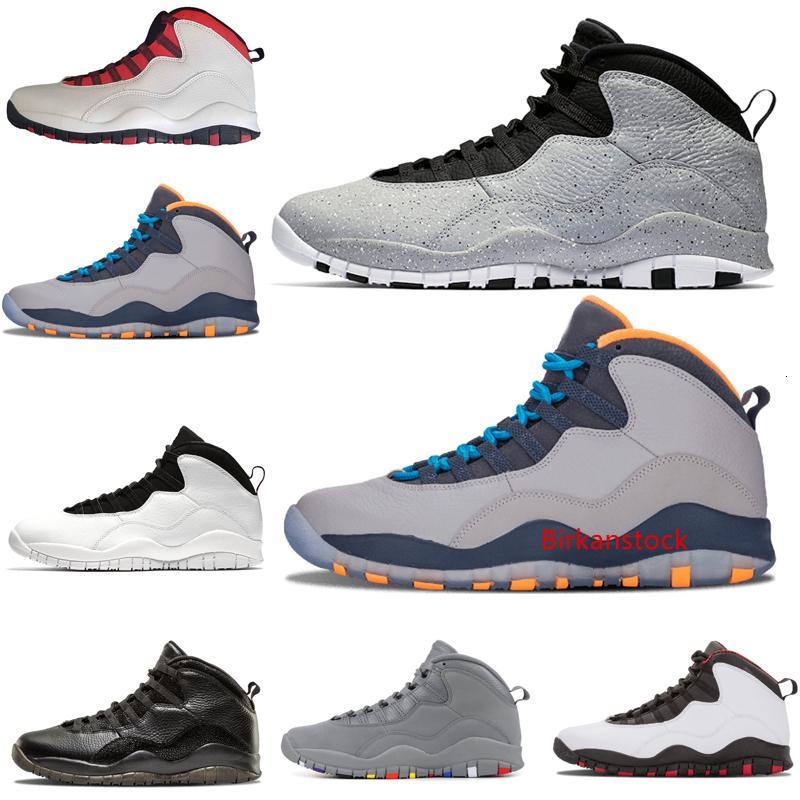 venta caliente 10 Westbrook Rojo Azul cemento baloncesto de los hombres zapatos 10s I m enfriar de nuevo azules claros Calidad Tamaño de las zapatillas de deporte gris acero de alta EEUU 8-13