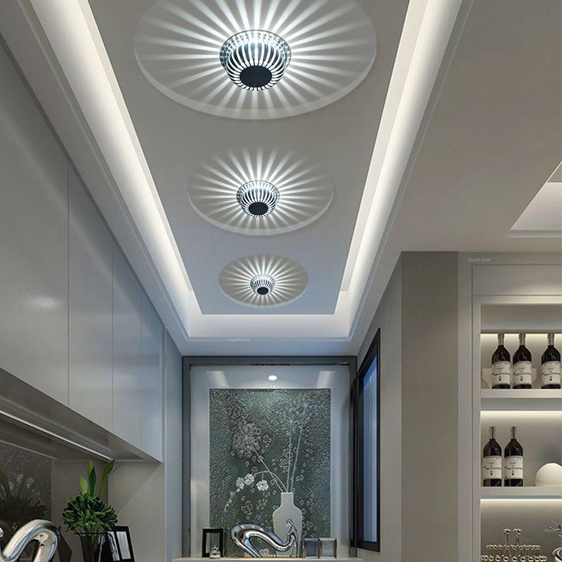 Iluminación LED 110-240 linterna LED de techo lámpara del techo de 3W KTV barra de la decoración del pasillo luces del pasillo de la lámpara sala de estar Escaleras Luz