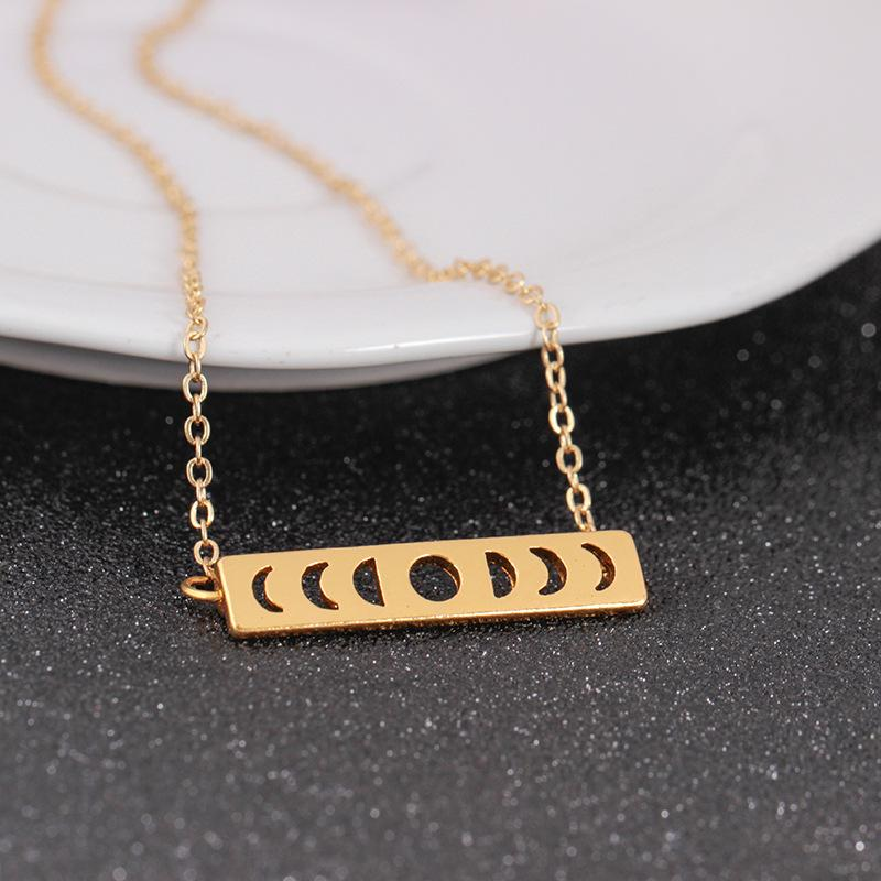 Choker Necklace Sun Moon Phase Lunar Eclipse Chains Necklaces For Women Vintage Jewelry Collier Statement Necklace