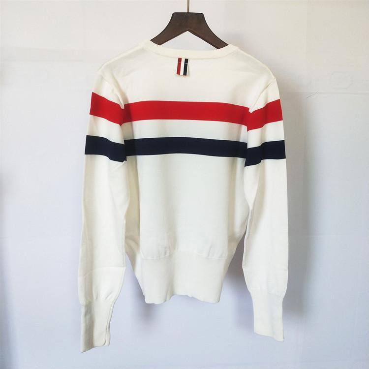 2020 Neue Frühling Damen Oansatz Pullover Frau Designer Pullover Frauen Kleidung Streifen Kaschmir Pullover Großhandel Pull Femme Eine Größe