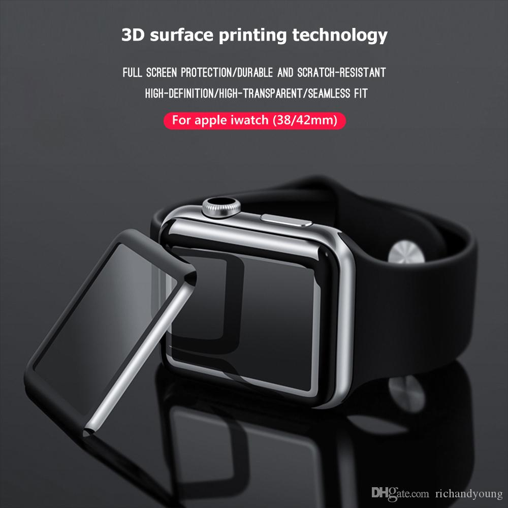 2019 High Quality 3D Screen Protector Film For Apple Watch 38mm 40mm 44mm  42mm 9H Full Cover Tempered Glass For IWatch Series 4 2 1 Iwatch Screen