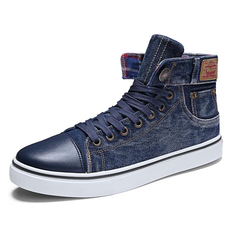 Джинсовая парусиновая Мужская обувь новое поступление высокие кроссовки мужские спортивные туфли мужские оригинальные парусиновые туфли для мужчин Heren Schoenen Casual