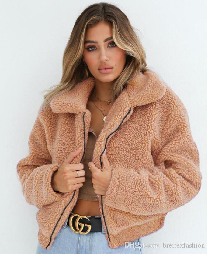 سترة الأزياء 2020 البلوز دافئ طويل الشارع الشهير الأزياء Sweate امرأة زبدة نباتية معطف الساخن بيع سميكة معطف 6 ألوان حجم كبير للمرأة الجلطة
