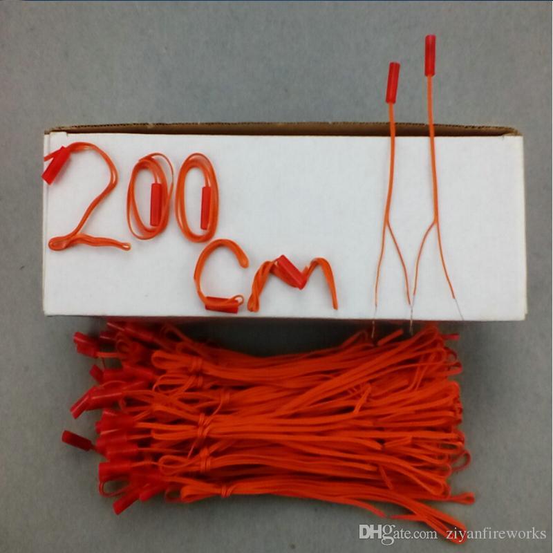 78.7in 120pcs bakır tel Yüksek kaliteli Kablosuz Uzaktan Kumanda 2020 yeni stil 2m Uzunluk havai fişek ateşleme sistemi bağlantı tel maçı Mutluluğun