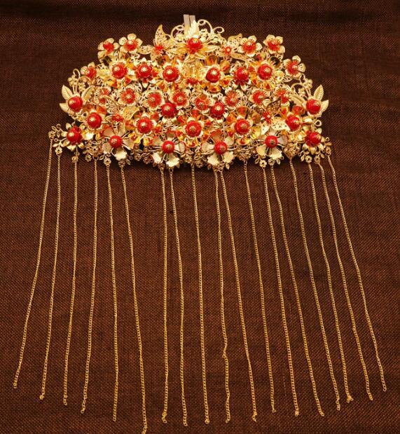 Kopfschmuck Retro Quaste Phoenix-Kronen-Haar-Zubehör Hochzeit Zubehör A-14