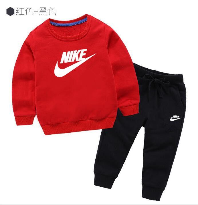 Tuta sportiva classica per bambini T-shirt manica lunga da ragazzo a manica lunga da bambina T-shirt a maniche lunghe da uomo in cotone girocollo manica lunga 2-7 eag @ 001