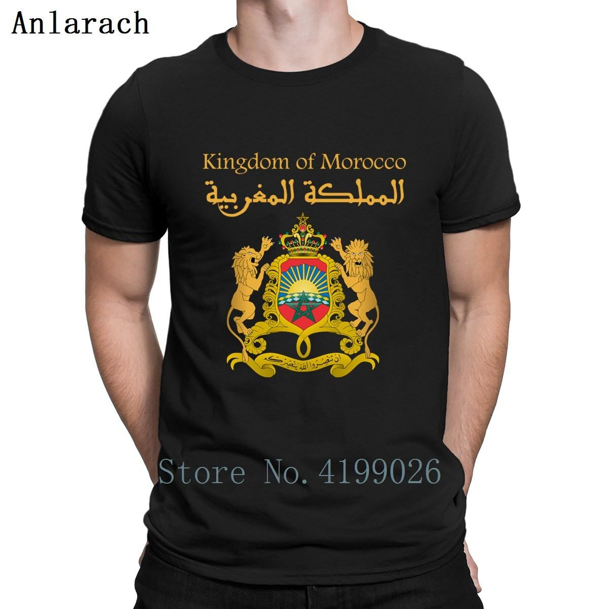 Kingdom Of Morocco Royaume Du Maroc T Shirt O-Neck Slim Spring Autumn Pictures Cotton Cute Building Customize Shirt