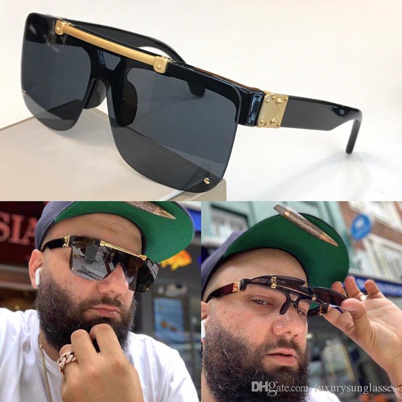 Nuovi occhiali da sole di modo del progettista 1194 Piazza Mezza flip Telaio Occhiali da Vista superiore Avanguardia Style Outdoor Z1194E MILLIONAIRE