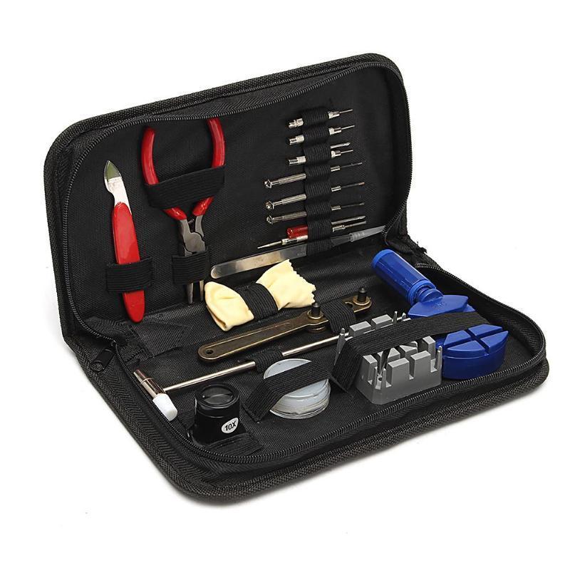 Оптовая 19 шт. Часы Инструменты Часы Открывалка Remover Spring Bar Repair Pry Отвертка Часы Набор Инструментов для Ремонта Запчасти