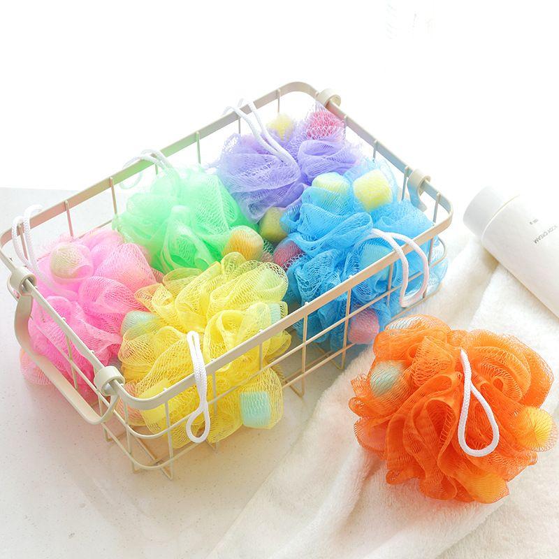 Fashion Bath Ball Bathsite Bath Tubs Cool Ball Bath Towel Scrubber Body Cleaning Mesh Shower Wash Sponge In Bathroom