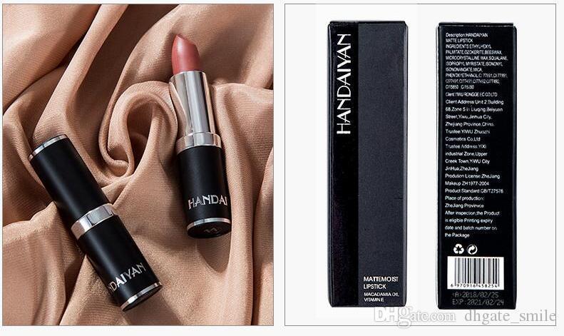 NUOVO in magazzino 12 Colore HANDAIYAN Rossetto opaco Burrocacao idratante duraturo Velvet idratante rossetto opaco