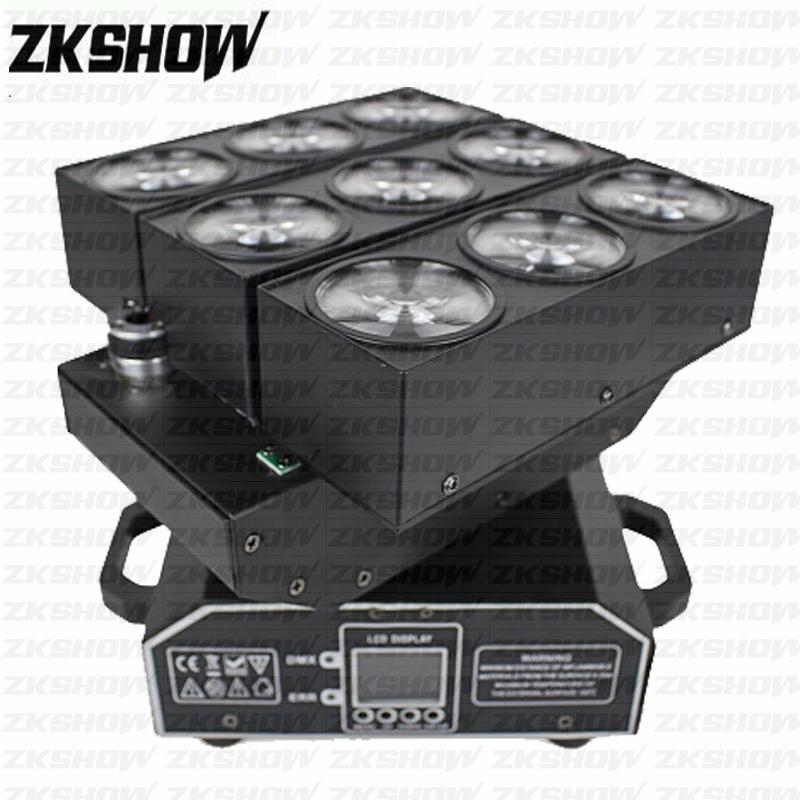 % 80 9 * 10W RGBW Cree LED Matrix Işın Wash Off KTV Bar Nightclub Parti Düğün Konsepti Dekor Sahne DJ Disco Aydınlatma Başkanı Işık Hareketli