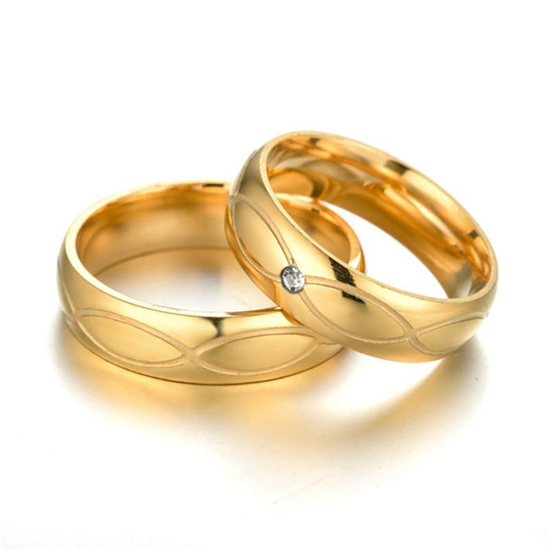 Stainless Steel Gold Ring Groove Diamond Ring Engagement Rings Women Wedding Rings Mens Rings New Designer Jewelry Gift Jeweler Simple Engagement Rings From Usdream 1 13 Dhgate Com