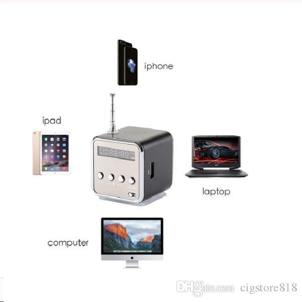 노트북 휴대폰 MP3에 음악 스테레오 스피커 블루투스 TD-V26 미니 스피커 휴대용 디지털 LCD 사운드 마이크로 SD TF FM 라디오
